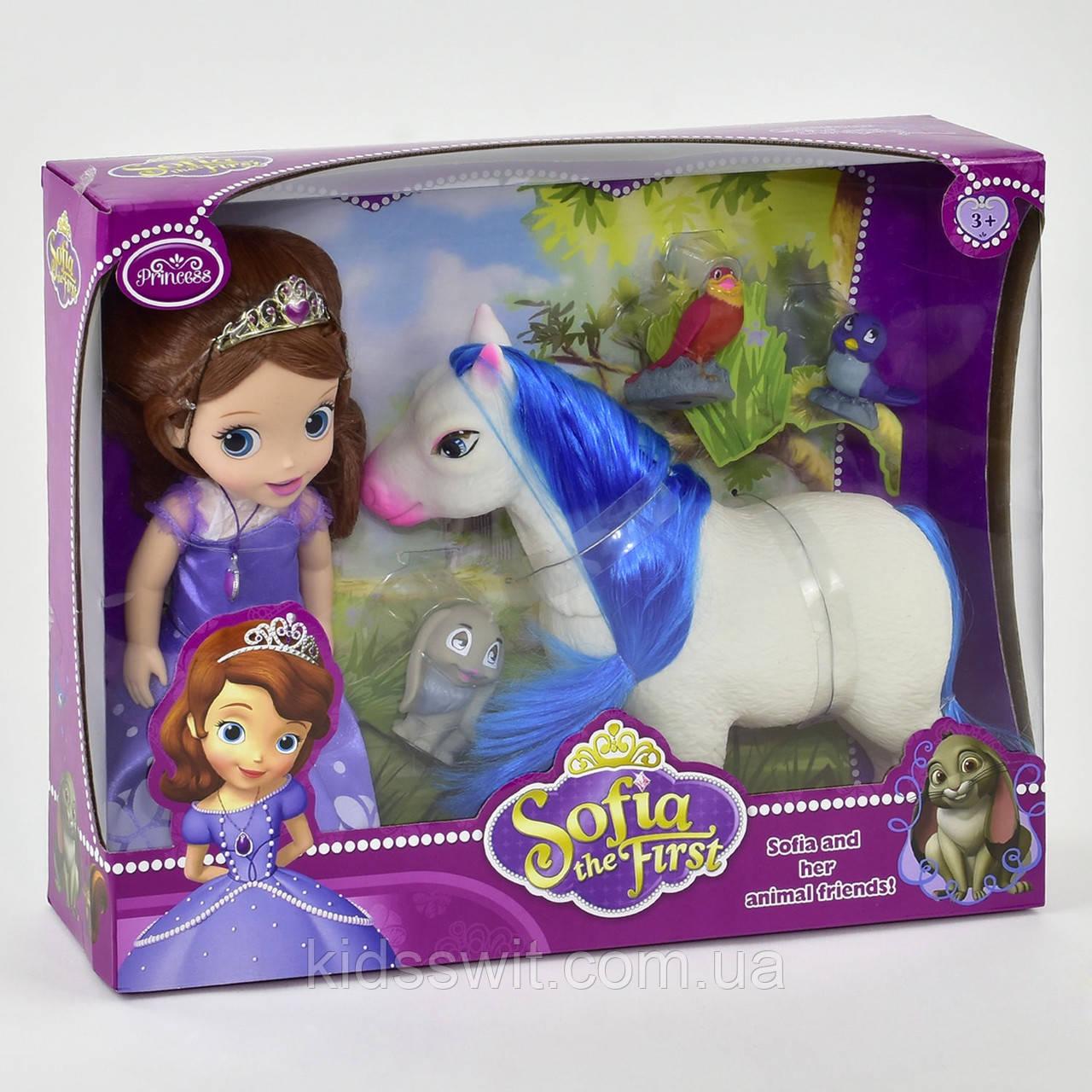 Кукла принцесса София с лошадкой с питомцами, ZT 8820