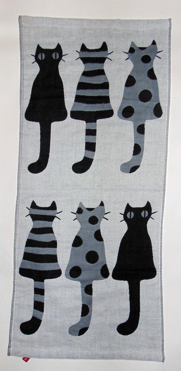 """Кухонное полотенце лен-рогожка """"Кошки Мышки"""" 70х35см"""