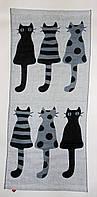 """Кухонное полотенце лен-рогожка """"Кошки Мышки"""" 70х35см, фото 1"""