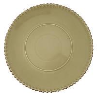 Тарелка подставная Португалия Costa Nova Pearl 33 см хаки