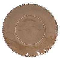 Тарелка подставная Португалия Costa Nova Pearl 33 см коричневый