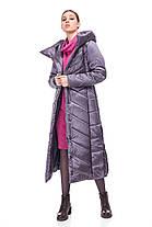 Размер 42-54 полномерный женский пуховик зима длинный ниже колена, фото 3