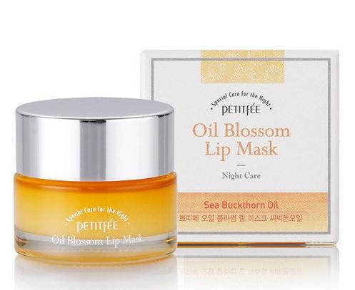 Ночная маска для губ с витамином Е и маслом облепихи Petitfee Oil Blossom Lip Mask