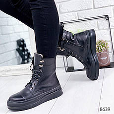 """Ботинки женские зимние """"Afo;o"""" черного цвета из натуральной кожи. Ботильоны женские. Ботинки зима, фото 3"""