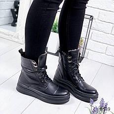 """Ботинки женские зимние """"Afo;o"""" черного цвета из натуральной кожи. Ботильоны женские. Ботинки зима, фото 2"""