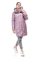 Стильный сатиновый пуховик зима 2020 объемный кокон размер 42-48 очень теплый красивый