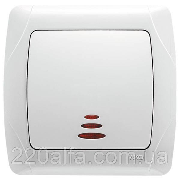 VIKO CARMEN Выключатель с подсветкой белый/крем