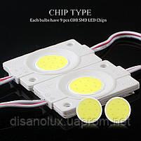 Светодиодный модуль COB led 2.4W 8000K, 12В, IP65  белый холодный, фото 5