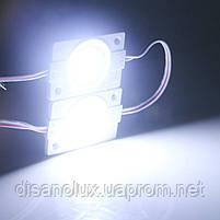 Светодиодный модуль COB led 2.4W 8000K, 12В, IP65  белый холодный, фото 7