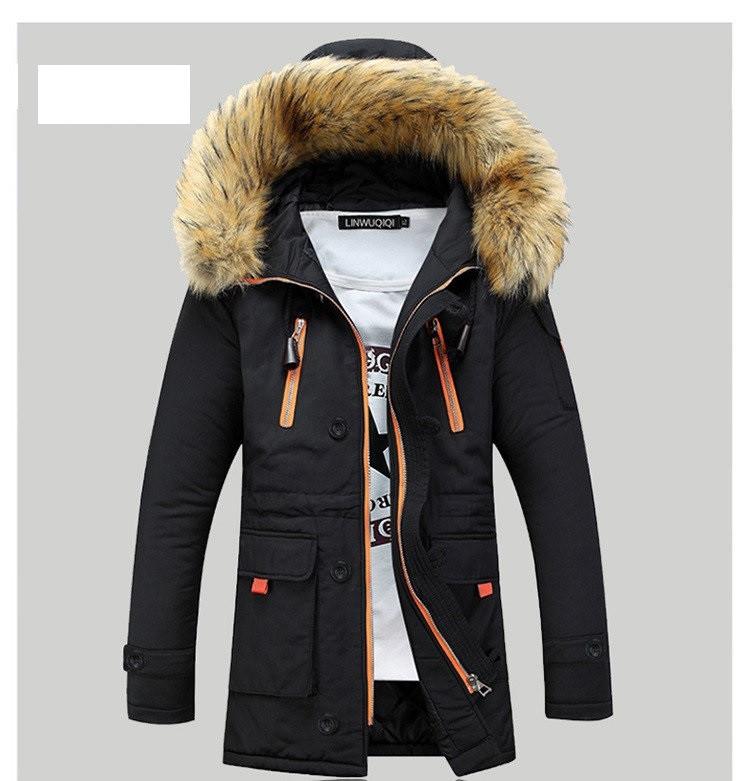 Куртка парка  мужская с  капюшоном  Черная