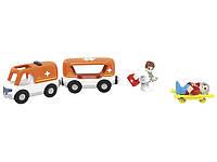 Машина скорой помощи с прицепом для деревянной железной дороги Playtive Junior