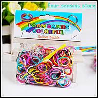 Резинки разноцветные Rainbow Loom 300 шт