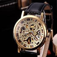 Мужские механические часы Winner Skeleton, фото 4