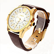 Мужские часы Curren Chronometer 8123 gold-white, фото 2