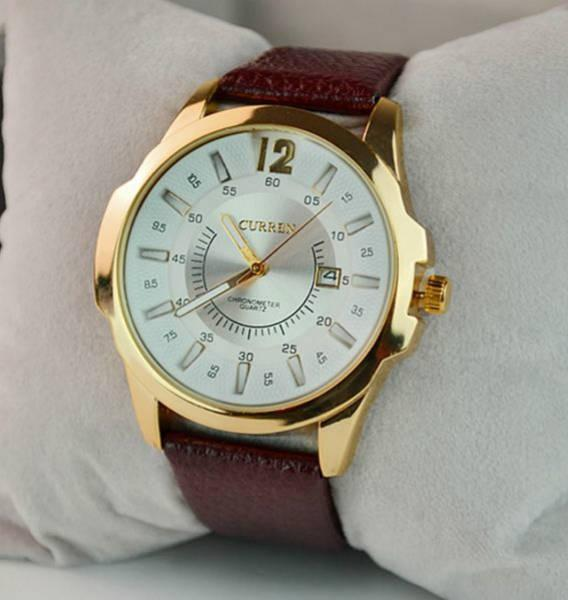Мужские часы Curren Chronometer 8123 gold-white