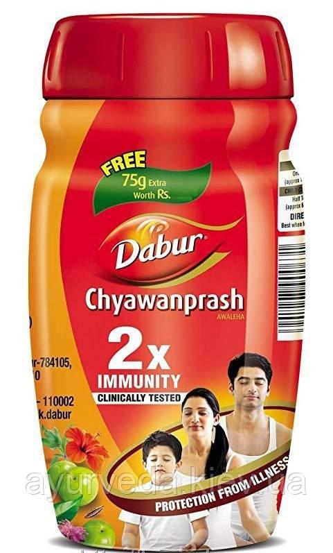 Чаванпраш Оригинальный Индия Дабур Двой иммунитет, Dabur 500+75 гр, чаванпрашь - иммунитет и профилактика ОРВ