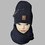 М 7053 Комплект шапка і хомут-вісімка зимовий, різні кольори, фото 2