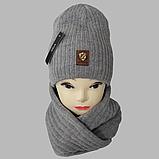 М 7053 Комплект шапка і хомут-вісімка зимовий, різні кольори, фото 4