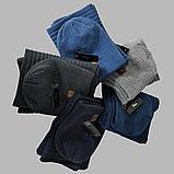 М 7053 Комплект шапка і хомут-вісімка зимовий, різні кольори, фото 5
