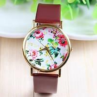 Часы женские Geneva Flower коричневые