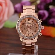 Женские часы Geneva Kors Style Rose Gold розовое золото со стразами, Жіночий наручний годинник, фото 2