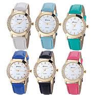 Женские часы Geneva Diamond голубые, фото 2