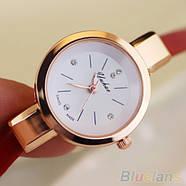 Женские часы браслет Ymhao красные, фото 2