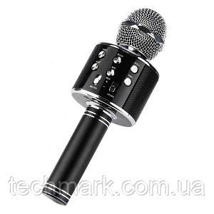 Беспроводной Караоке-микрофон Bluetooth микрофон WS-858 Black