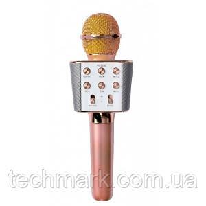 Микрофон-Караоке беспроводной Bluetooth WSTER WS-1688 Rose