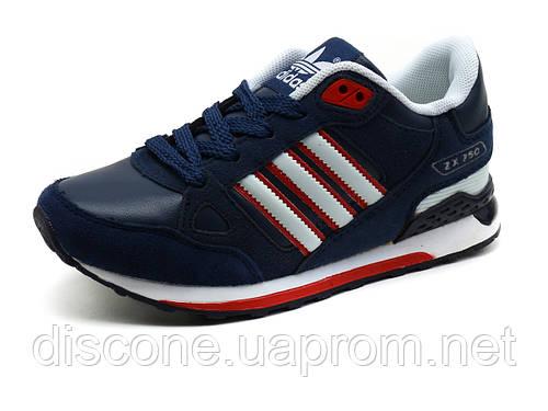 Кроссовки детские Adidas ZX750, синие с красным