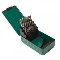 Набор сверл по металлу HSS 4241,25пр(1-13мм, шаг 0.5мм), в метал. футляре