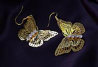 """Интересные серьги """" Вечерние бабочки"""""""