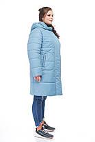Женская зимняя куртка пуховик выше колена на морозы  52-64 большие размеры, фото 3