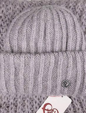 Комплект (шапка и снуд-хомут) Flirt Лика-Морган One Size светло-сиреневый, фото 2