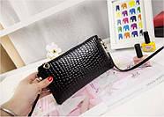 Женский клатч кошелек черного цвета, фото 2