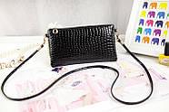 Женский клатч кошелек черного цвета, фото 4