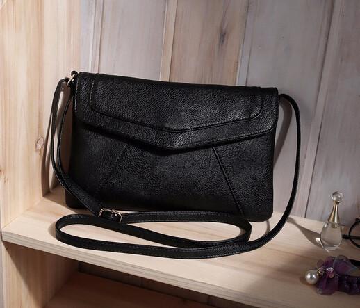 Женская сумка клатч конверт черного цвета