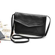 Женская сумка клатч конверт черного цвета, фото 2