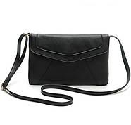 Женская сумка клатч конверт черного цвета, фото 3