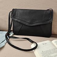 Женская сумка клатч конверт черного цвета, фото 4