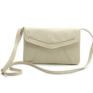 Женская сумка клатч конверт белого цвета, фото 2