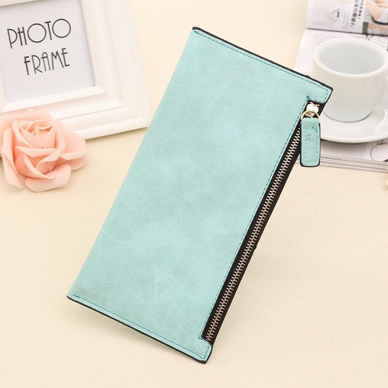 Женский кошелек клатч голубого цвета