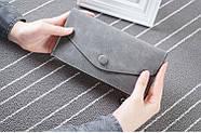 Стильный женский кошелек клатч серого цвета, Жіночий гаманець, фото 2