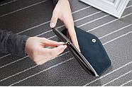Стильный женский кошелек клатч серого цвета, Жіночий гаманець, фото 4