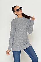 Женский вязаный свитер по фигуре (КС03 jd), фото 3