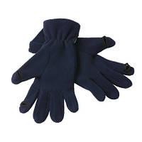 Перчатки из микрофлиса на резинке сенсорные темно-синие 7948-32