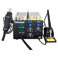 Паяльная станция термовоздушная Lukey 852D+,паяльник и фен