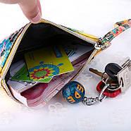 Женский клатч кошелек с принтом, фото 4