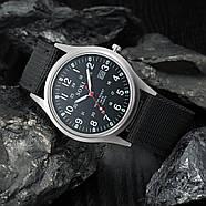 Мужские армейские часы черные, фото 2