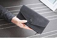 Стильный женский кошелек клатч черного цвета, Жіночий гаманець, фото 2